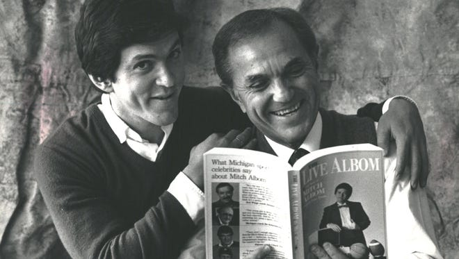 Mitch Albom with his dad in 1988.