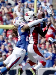 Stephon Gilmore of the Buffalo Bills breaks up a pass