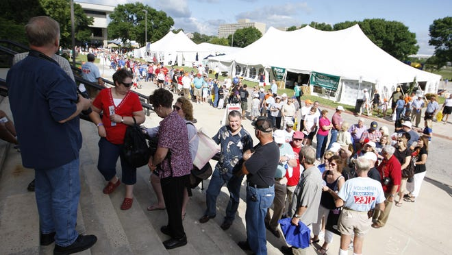 Almost 17,000 Iowans cast ballots in the 2011 straw poll — a figure that ultimately represented about 14 percent of all 2012 caucusgoers. In 2007, the crowd was estimated at 30,000. But the straw poll was canceled Friday after a meeting of Iowa Republican leaders.