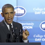 In this Nov. 8, 2014 photo, President Barack Obama speaks in the Roosevelt Room of the White House in Washington.