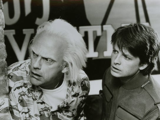 Christopher Lloyd and Michael J. Fox in 'Back to the