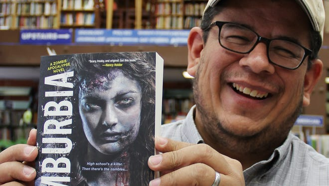 Author Adam Gallardo will be autographing copies of Zomburbia on Friday, Sept. 19, at 7 p.m. at the Book Bin in downtown Salem.