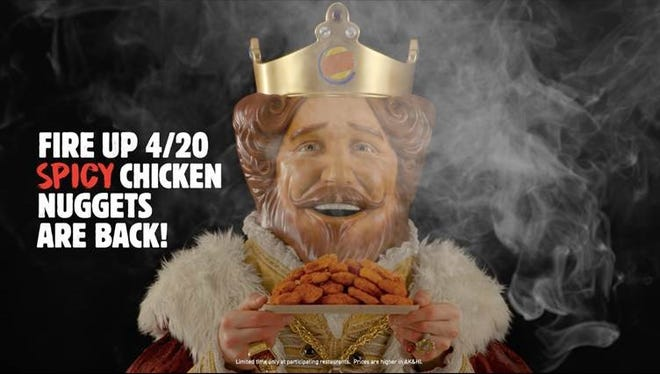 Burger King is bringing back its spicy chicken nuggets for a limited time.