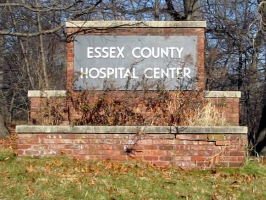 A sign at the abandoned buildings at the site of the old Essex County Hospital Center in 2010.