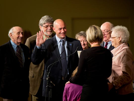 Greg Landsman is sworn in as a city council member