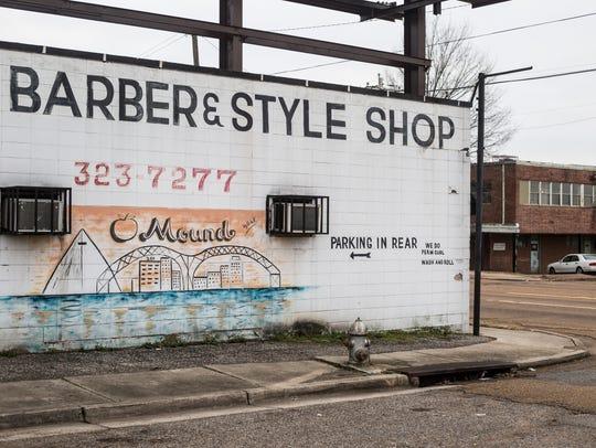 A mural is seen in Memphis' Orange Mound neighborhood