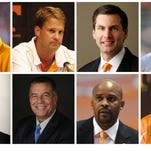 8 coaches in 10 years at the University of Tennessee