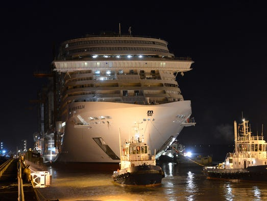 Evénéments - Page 3 636180978167749103-4.-MSC-Meraviglia-leaving-the-dry-dock-and-floating-out-to-reach-dock-C-for-completion