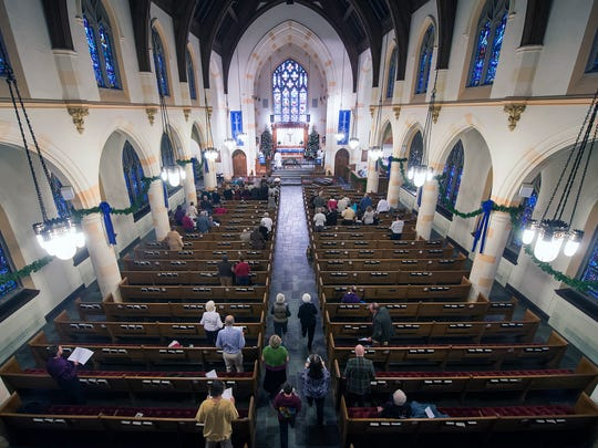 Union Lutheran Church on West Market Street was averaging about 55 people a week attending services. The Rev. Joel Folkemer expected to end 2015 averaging 71.