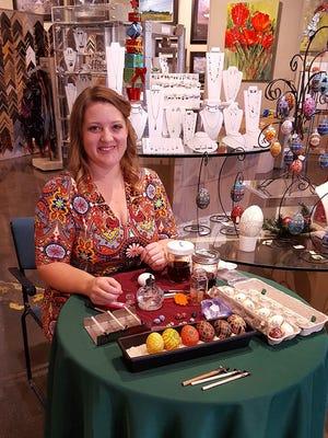 Jordan Byrd will teach attendees how to make a batik egg at a workshop in Feb. 4.