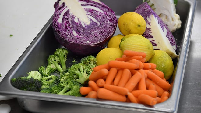 In this file photo, fresh fruits and vegetables are seen at the Career Education Center. While there is a concern over a multi-state outbreak of Cyclospora infection, related to fresh produce in some cases, the district said there are no reported cases in the Wichita County area. '