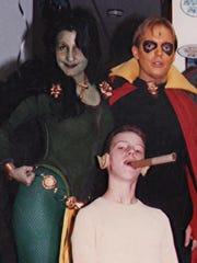Amanda Conner, Funnybooks owner Steve Conte, and David