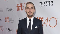 Shia LaBeouf attends the 'Man Down' premiere during