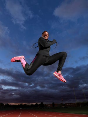 Rush-Henrietta track star Lanae-Tava Thomas is the AGR girl's track and field Athlete of the Year.
