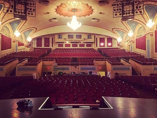 A view from the stage at the Strand Theater in Lakewood.