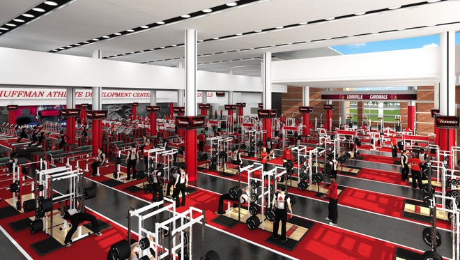 New weight room for proposed Papa John's Cardinal Stadium expansion