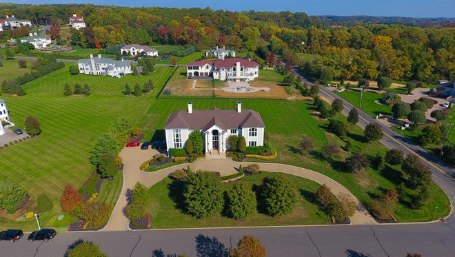 An aerial shot of 302 Bayview Drive in Morganville.