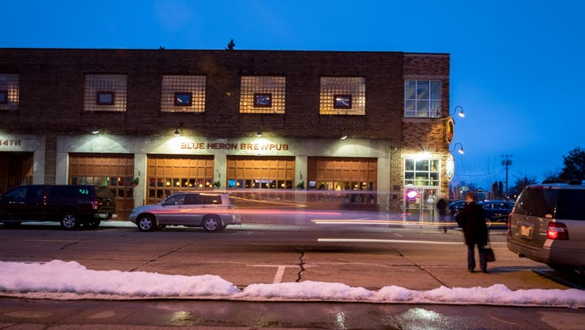 An exterior shot of the Blue Heron BrewPub, located at 108 West 9th Street, on Jan. 24, 2017 in Marshfield, Wis.