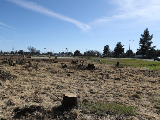 Crews have cleared property near South Bonnyview and