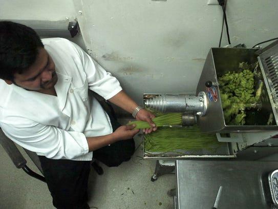 Uriel Bautista, a pasta maker at Bisetti's Ristorante