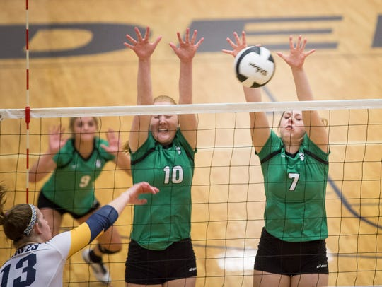 Yorktown won won the fifth set 19-17 and defeated Delta