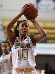 WMU junior Breanna Mobley averaged 21 points and nearly 15 rebounds per game during her senior season at Waverly High School in Lansing.
