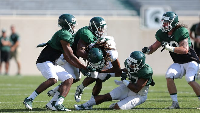 MSU's defense topped the offense in Thursday's jersey scrimmage.
