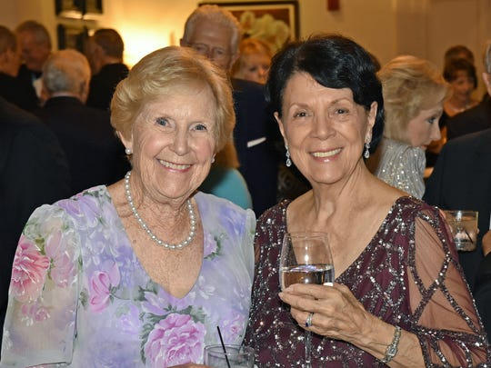 Sally Pearce, left, and Betty Jacobs at the Grand Harbor Community Outreach Program Gala Dinner and Auction.