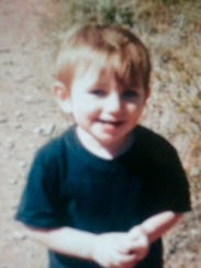 Simon Nelson, 2, before the accident.