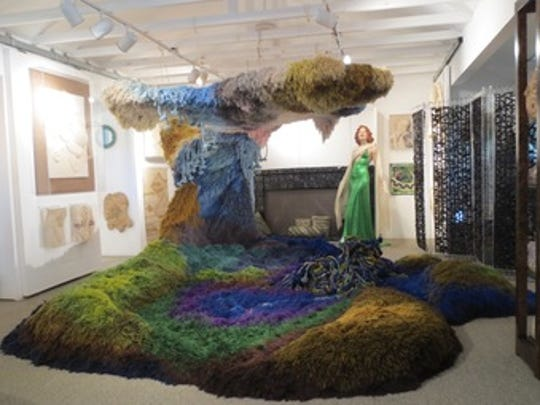 """""""Cave Rug"""" by artist Urban Jupena is part of this year's ArtPrize in Grand Rapids."""