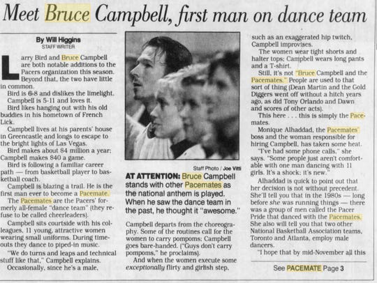 A copy of the story about Pacemate Bruce Campbell.