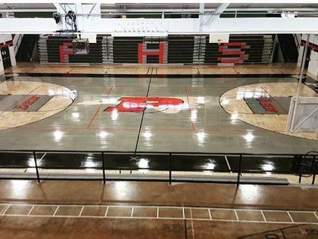 Pisgah's new gym floor is ready for competition.