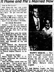 An Aug. 8, 1953, Knoxville News Sentinel article about