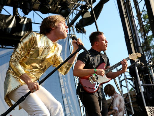 Cage the Elephant performs at the Bonnaroo Music & Arts Festival on Saturday, June 14, in Manchester, Tenn.