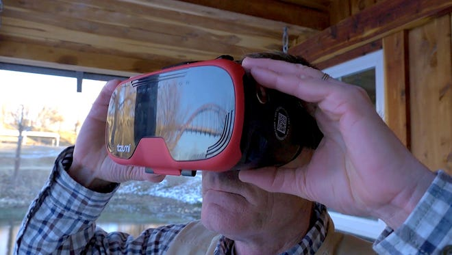 In a brief promotional video shown at last month's Mountain Home Area Chamber of Commerce banquet, Randy Ludwig dons a virtual reality headset to experience some of the activities the Twin Lakes Area has to offer.