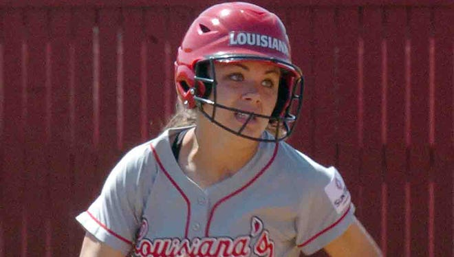 UL's Haley Hayden (35) runs the bases during the Cajuns? twinbill sweep of Texas State on Saturday at Lamson Park.
