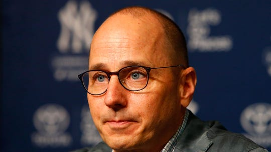 New York Yankees general manager Brian Cashman speaks
