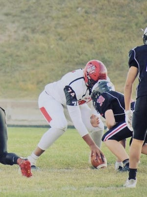 Hoxie's Harlan Obioha is receiving Division I offers in football and basketball.