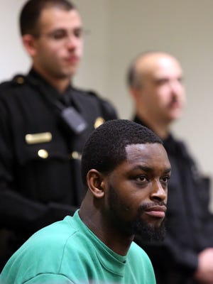 Indicted ex-Rutgers football players plead not guilty in home invasions, assault at the Middlesex County Court in New Brunswick on Wednesday January 6, 2015.
