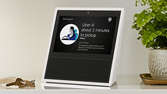 Enjoy visual and audible updates with the Echo Show.