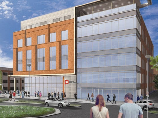 The firm will use two stories of the new building.
