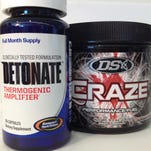 Detonate is marketed by Gaspari Nutrition as an all-natural weight loss supplement. Craze is marketed by Driven Sports as an all-natural pre-workout supplement.