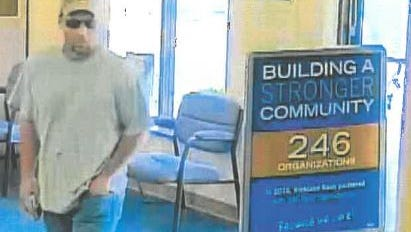 Mansfield police Monday released this updated photo of the robbery suspect at the Richland Bank on Cook Road Friday.