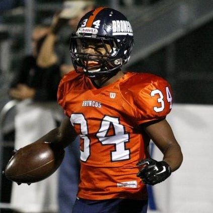 Brandeis junior running back Jaylon Dukes rushed for