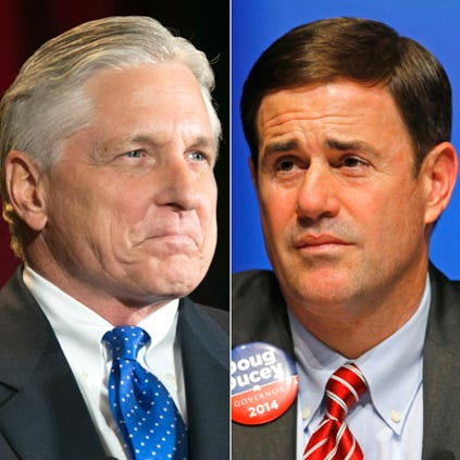 Whoever wakes up as Arizona's governor-elect on Nov. 5 will have just three months to figure out how to fill a $282 million state budget shortfall.