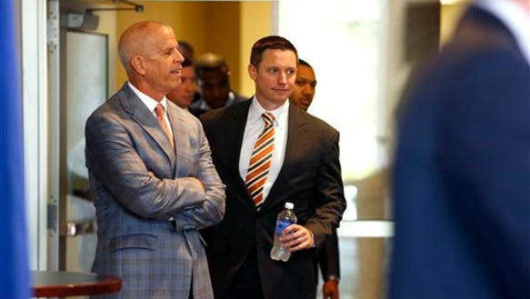 In this May, 2015 file photo, Florida Athletic Director