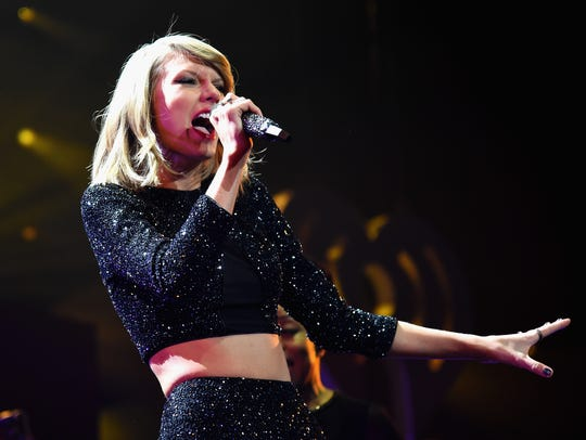 Taylor Swift performs during KIIS FM's Jingle Ball