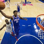 76ers start West Coast road trip with Embiid on the bench