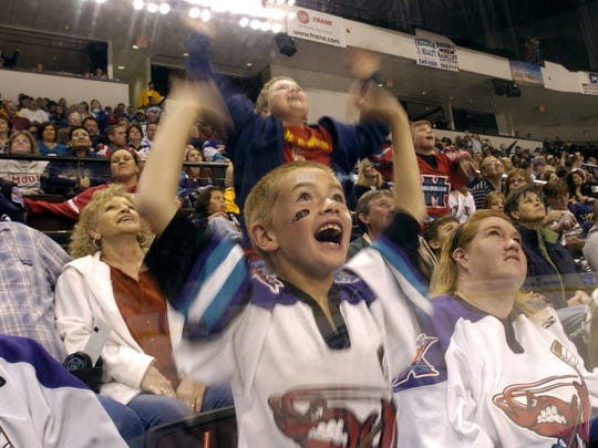 Mudbugs fans enjoy a game in 2008 at the CenturyTel Center.