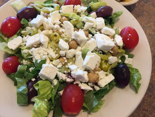 Greek salad from Skyline Chili